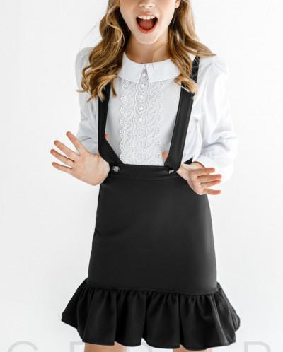 Оригинальная юбка с бретелями