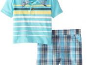 Комплект из 2 предметов: поло голубое и шорты