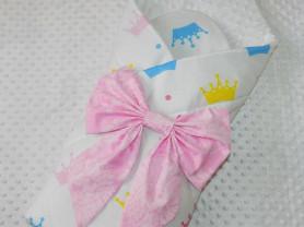 конверт на выписку с бантом для девочки.