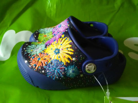 Новые сабо Crocs, оригинал, с мигалками