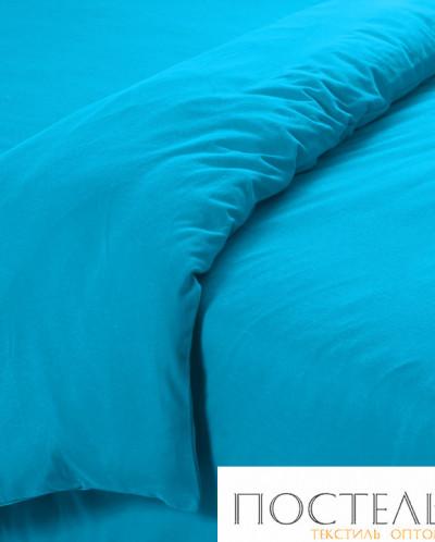 0001Т1Гол Голубой пододеяльник ТРИКОТАЖ 2,0 спал арт 0001Т1