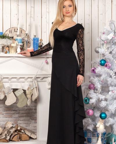 Платье № 829-черный