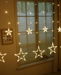 Гирлянда Звезды 2.5х9.5м, 12 звезд
