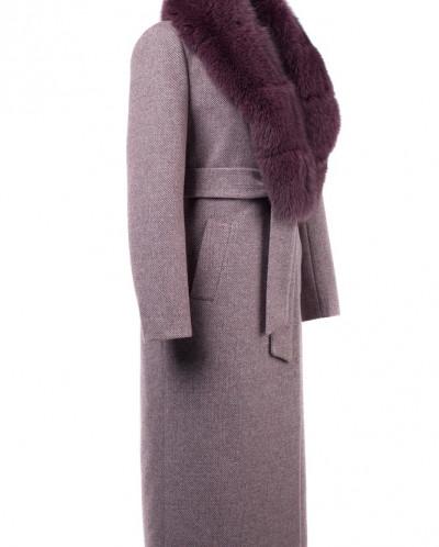 02-2853 Пальто женское утепленное (пояс)