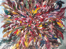 Картина маслом Вдох цветка 100/100 см