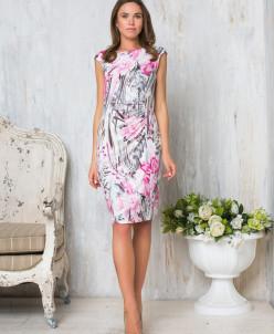 Платье розовый принт