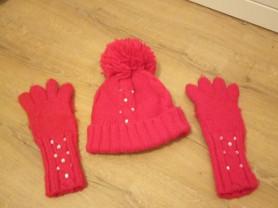 Комплект шапки и перчатки для девочки р 54
