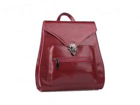 Новый кожаный рюкзак бордовый