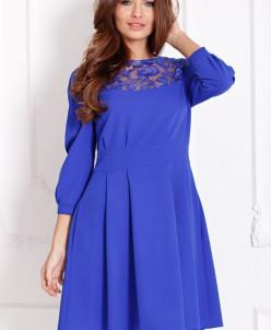 Платье Нинель цвет электрик (П-134-2)