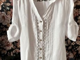 Рубашка блуза Лен Италия р 48-50