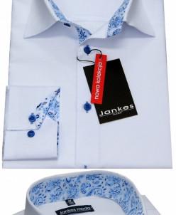 Рубашка белая отделка мотив  164-170 cm