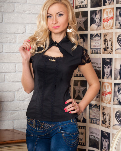 Рубашка № 342-черная