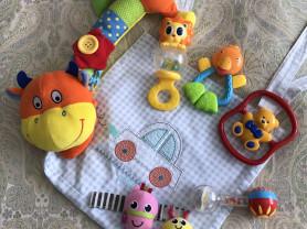 Детские игрушки + сумка для хранения
