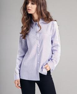 Р1111 блузка Цвет1: голубой+фиолетовый оттенок