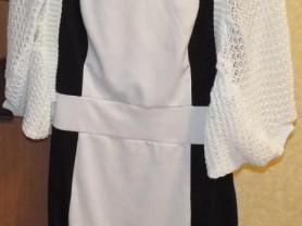 Платье и вязанная накидка (кофта)