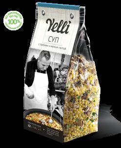 Коллекция  Yelli - Суп с грибами и мелкой пастой