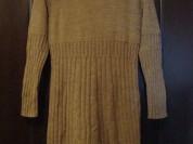 Теплое шерстяное женское платье с горлом 44-46р