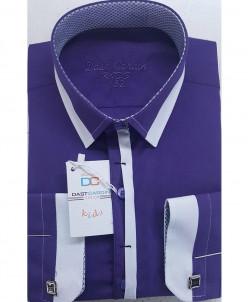 Рубашка для мальчика, Dast Cardin, арт.1102, фиолетовый