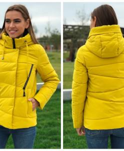 Женская куртка 1831-54 желтая