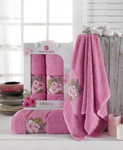 9724 Комплект полотенец MERZUKA махровые с вышивкой (50x90,7