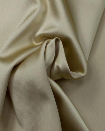 Ткань однотонный атлас кремового цвета