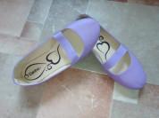 Новые балетки р.37(23,5см) нежно сиреневый цвет