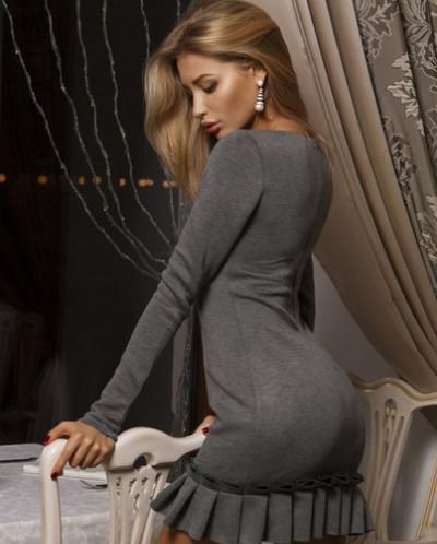 Нарядное платье из неопрена №02006