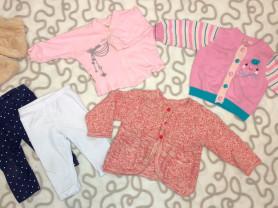 Пакет фирменных вещей для девочки (р,68-74)