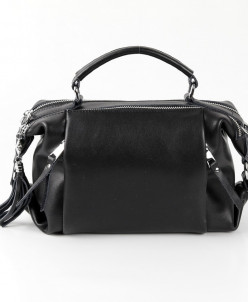 Женская кожаная сумка 1837-1 Матовый Блек