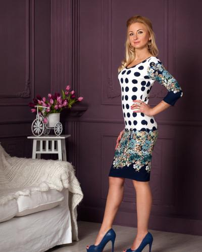 Платье № 838-бирюза