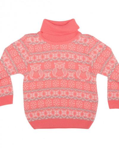 Детский свитер с горлышком полушерсть Совята