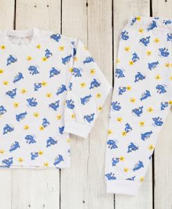 Детская пижама с манжетами, набивной рисунок (кулирка)