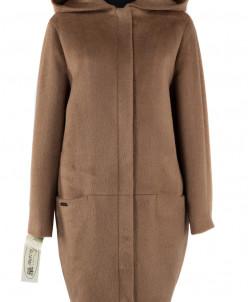 Пальто женское демисезонное Ворса Кэмел