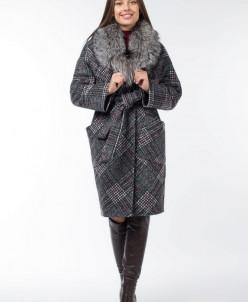 02-2899 Пальто женское утепленное (пояс)