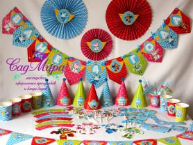 Набор для оформления дня рождения Поли Робокар.