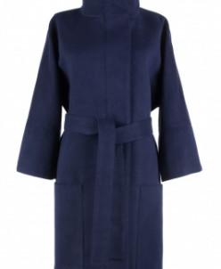 01-4048 Пальто женское демисезонное (пояс) Кашемир Navy