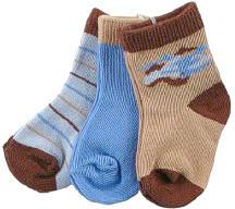 Luvable Friends Носки для мальчиков, 3 шт