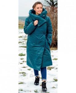 Женская стильная куртка-одеяло, без капюшона