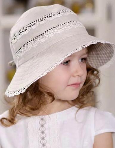 "Шляпа для девочки ""Кружевница"" (48-50)"