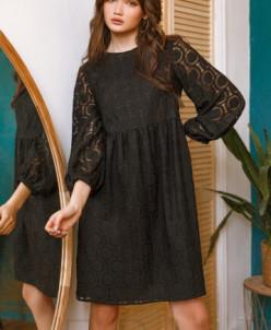 Платье свободного кроя черного цвета