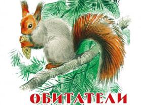 Обитатели наших лесов книжка-картинка Худ. Комаров