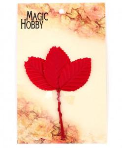 Листочки декоративные MAGIC HOBBY  уп.10шт цв. красный