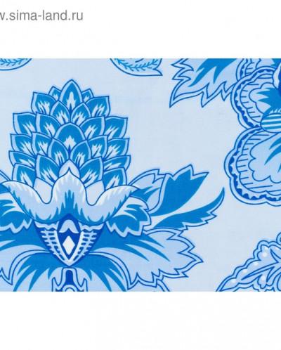 Постельное бельё Евро Merry голубые узоры