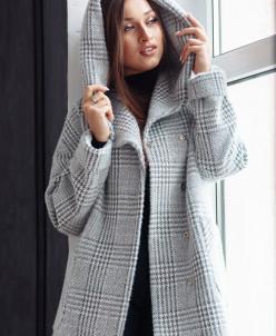Пальто 22450 (серый/клетка)