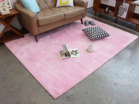 Розовый ковер с ворсом LugSong 100 x 150 см