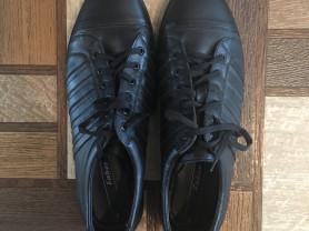 Кожаные черные новые мужские полуботинки туфли на шнурках Faber