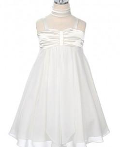 Воздушное платье, OFF WHITE, размер 8