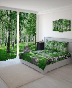Комплект Берёзовый лес Габардин 1,5сп