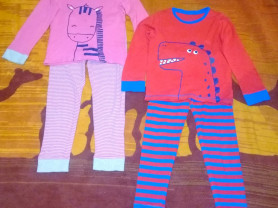 Пижамки на мальчика и девочку Мазекея