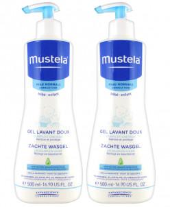 Mustela Нежный Очищающий гель ,2 бут./500 мл